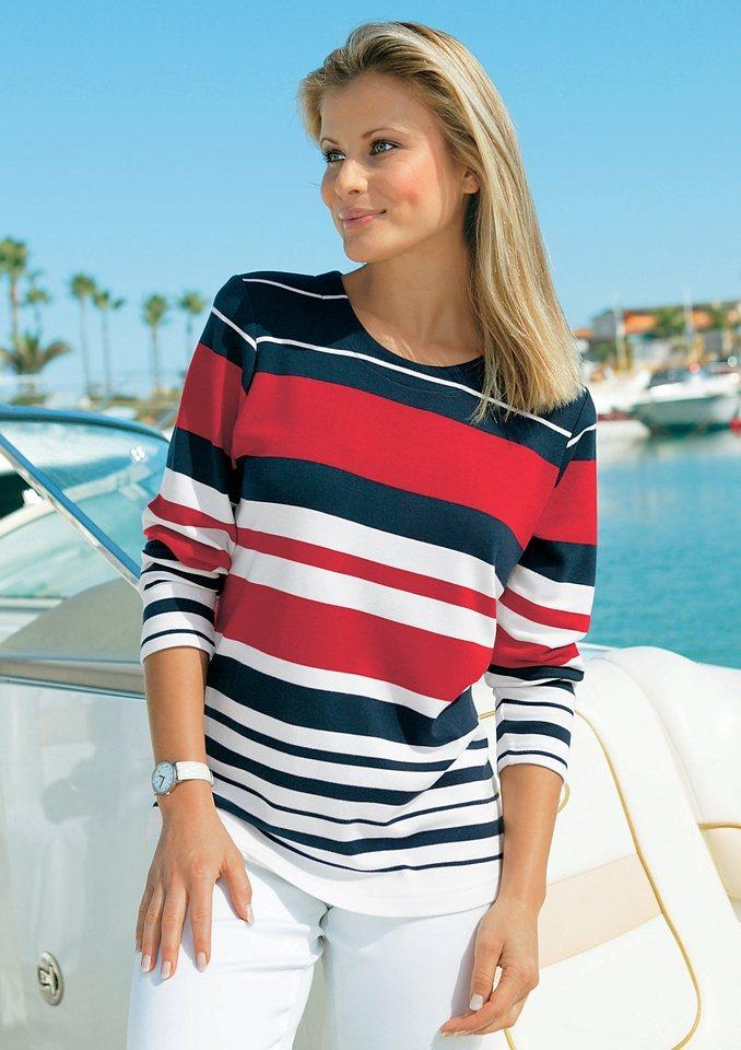 Collection L. Shirt im garngefärbten Streifen-Dessin allover in marine-gestreift