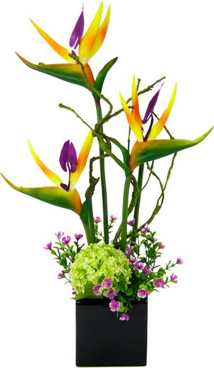 Kunstpflanze Strelitzie/Sonnenblumen, I.GE.A., Höhe 45 cm