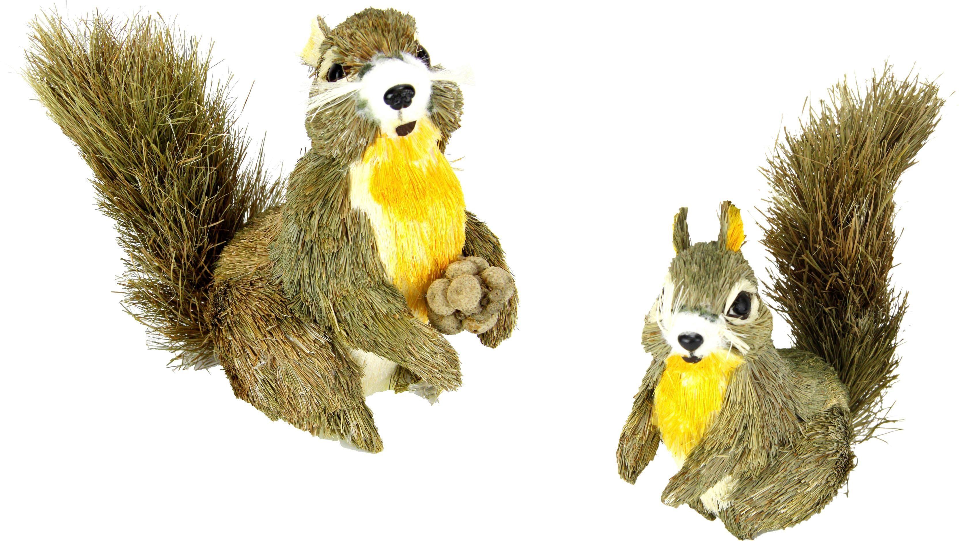 Home affaire Tierfigur Bast-Eichhörnchen(2er Set)