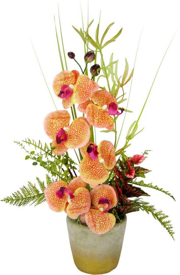 kunstblume gesteck orchidee im topf online kaufen otto. Black Bedroom Furniture Sets. Home Design Ideas