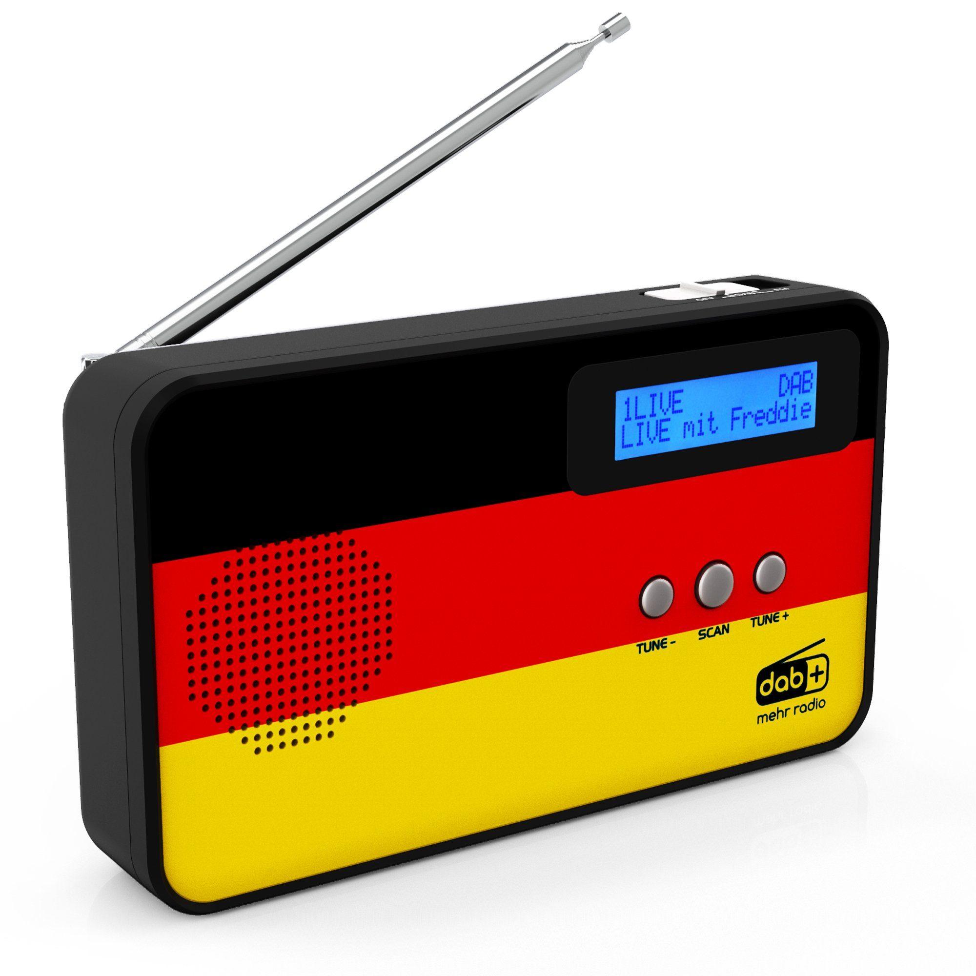 Sky Vision DAB+ / FM Radio mit Deutschland-Flagge »DAB 100 DE«