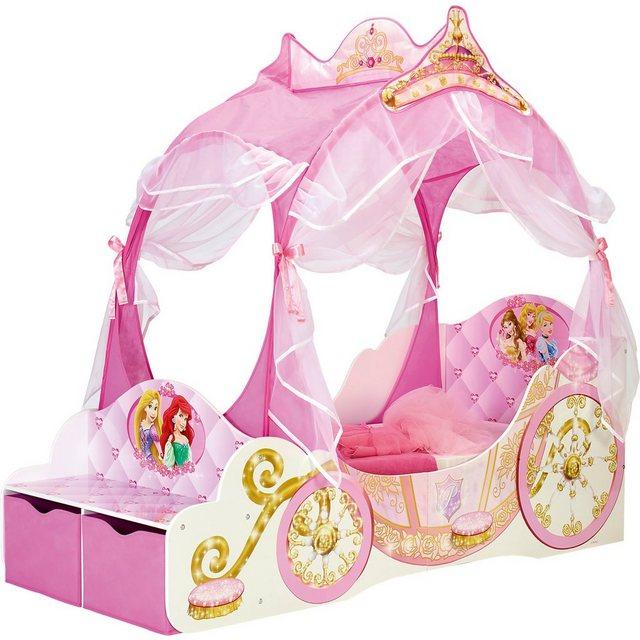 Kinderbetten - WORLDS APART Kinderbett Disney Princess Kutsche, 70 x 140 cm » rosa  - Onlineshop OTTO