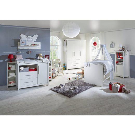 Roba® Kinderbett & Wickelkommode (breit) Sparset CASTELLO, Weiß