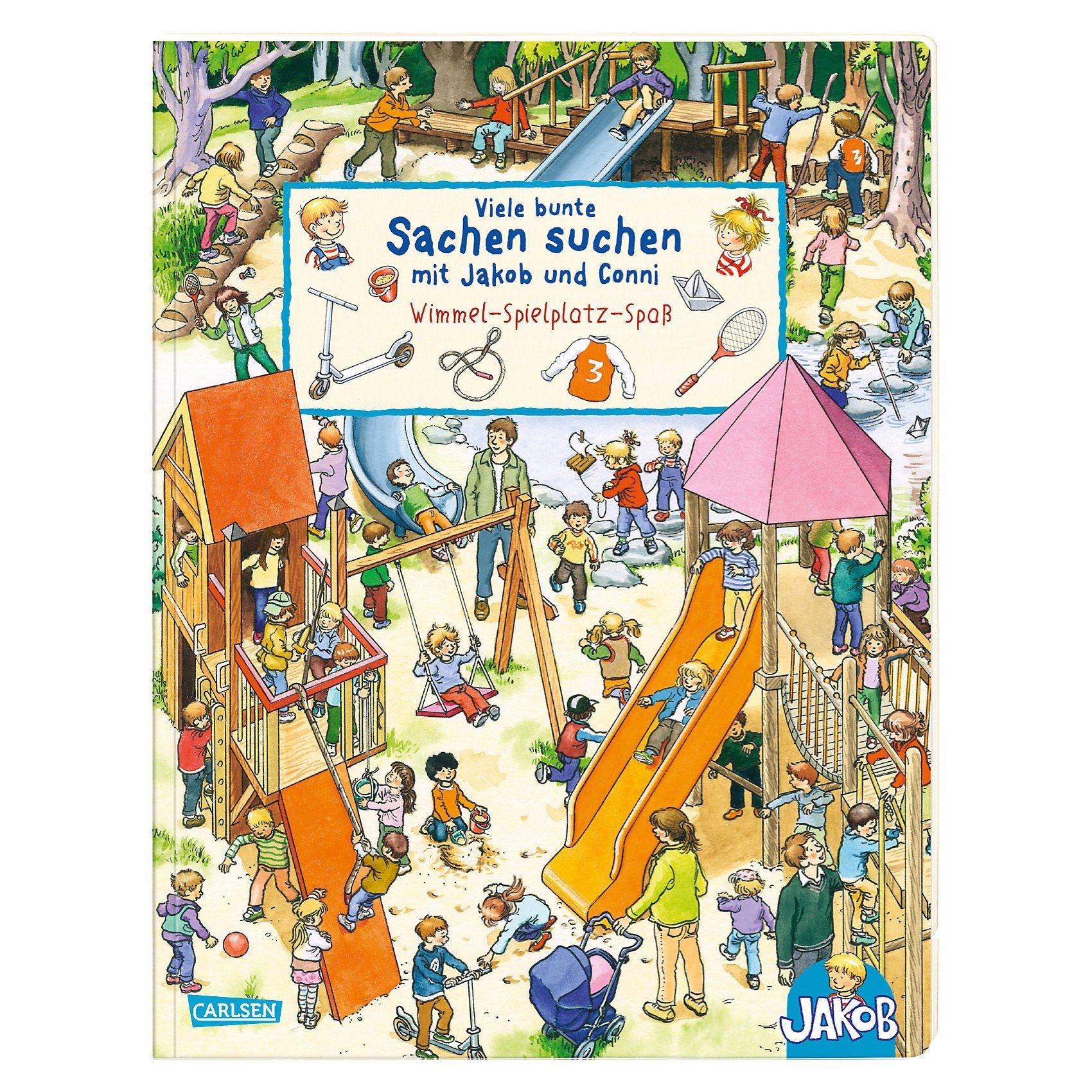 Carlsen Verlag Viele bunte Sachen suchen mit Jakob und Conni - Wimmel-Spiel