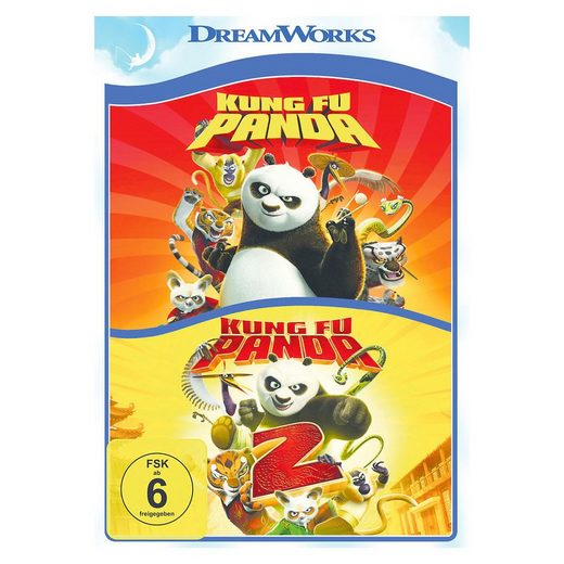 DVD Kung Fu Panda 1 & 2
