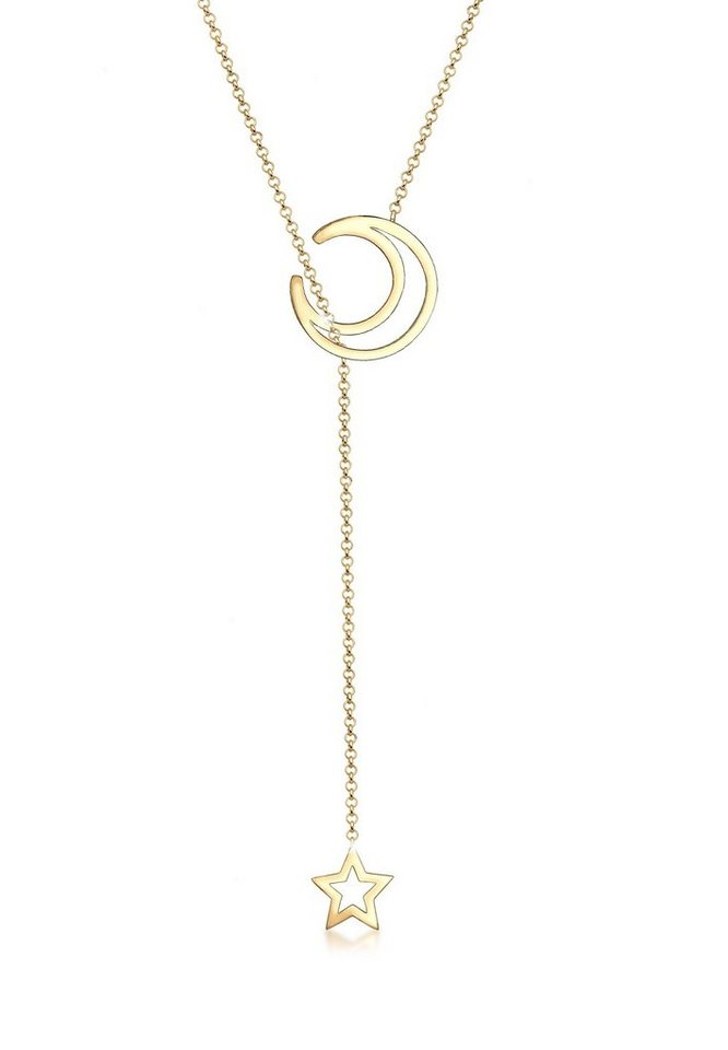 5cac9285f2e5 Elli Collierkettchen »Y-Kette Halbmond Stern Astro 925 Sterling Silber«