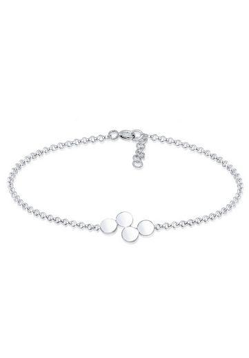 Elli Armband »Kreis Geo Basic Erbskette Plättchen 925er Silber«