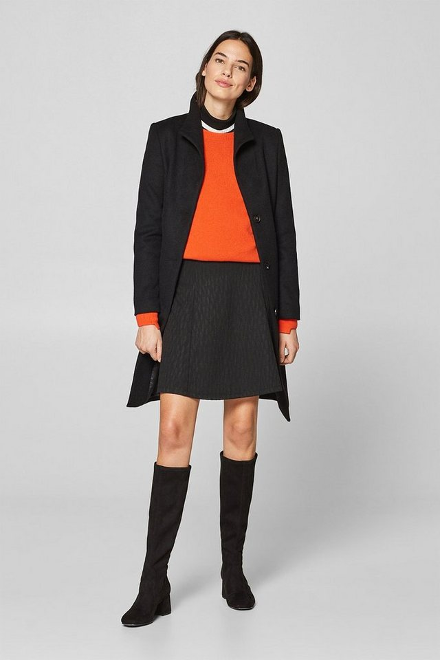 Esprit Jersey-Rock in A-LInie mit Jacquard-Muster