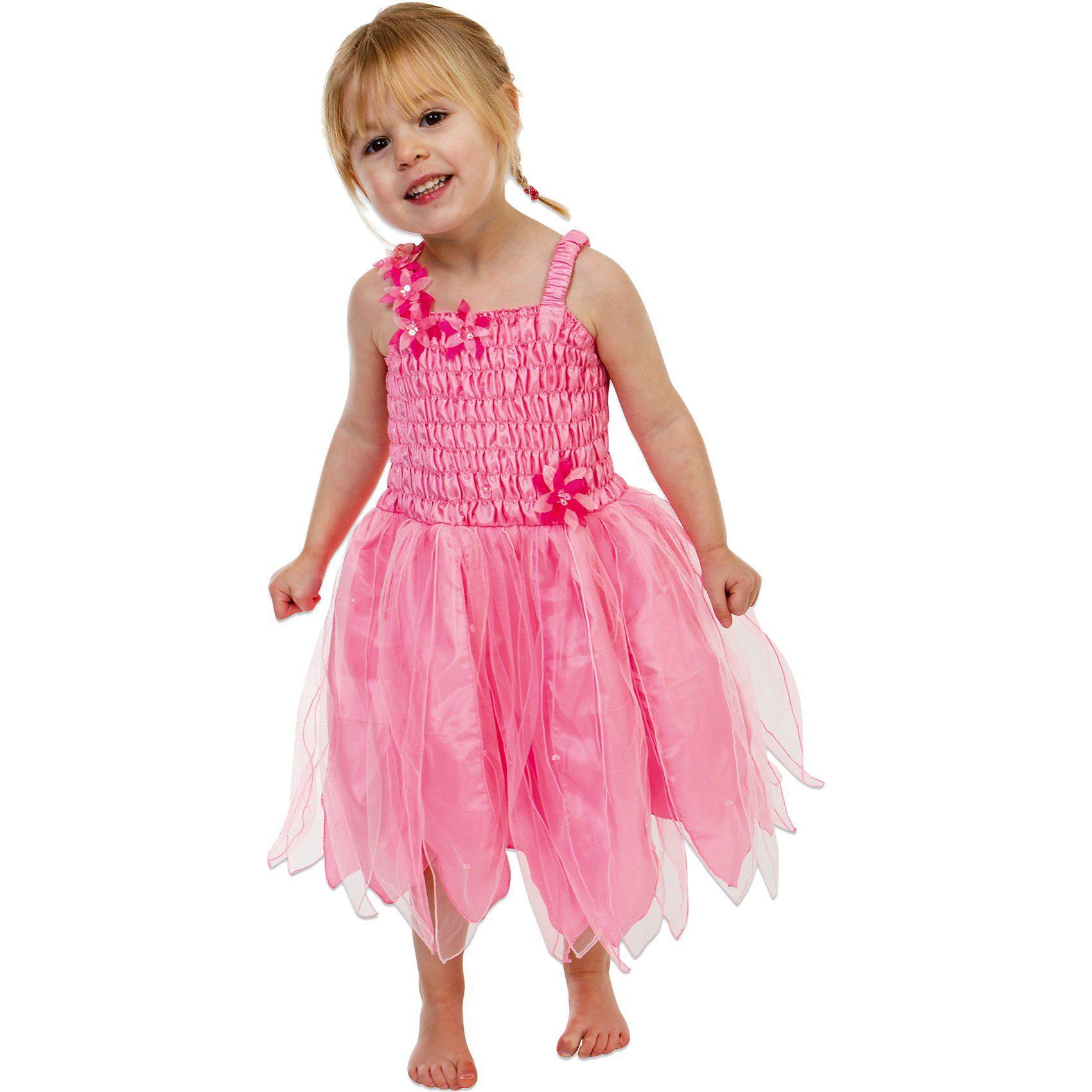 Lucy Locket Kostüm zierliche Blumen-Fee mit Blätterrock pink
