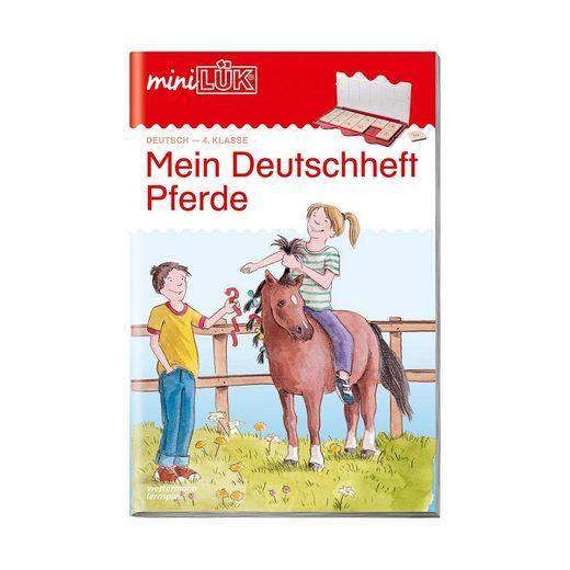 Westermann Verlag mini LÜK: Mein Deutschheft Pferde, 4. Klasse, Übungsheft
