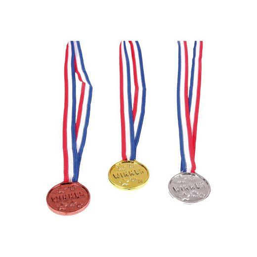 Amscan Medaillen Gold-Silber-Bronze, 3 Stück