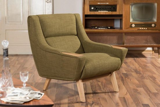 Max Winzer® Sessel »Heddy«, mit Ablagen aus Holz
