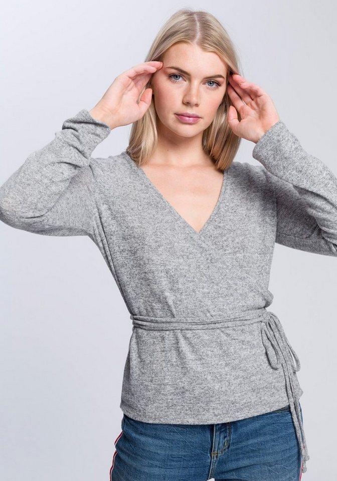 OPUS Wickelshirt »Sendol« in ansprechender Wickeloptik | Bekleidung > Shirts > Wickelshirts | Grau | OPUS