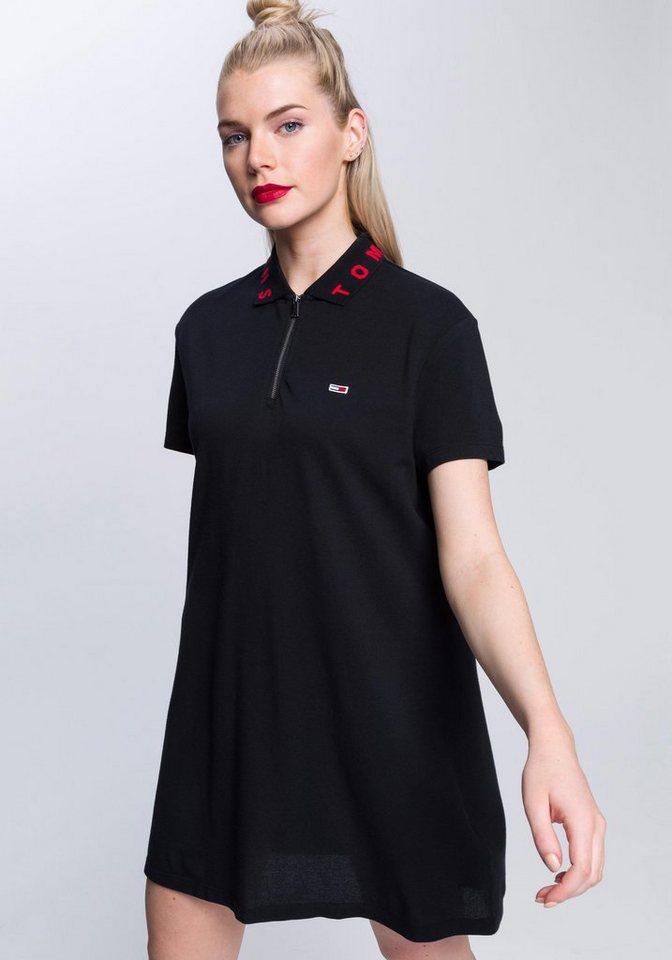 Tommy Jeans Kleid »TJW COLLAR DETAIL POLO DRESS« | Bekleidung > Kleider > Jeanskleider | Schwarz | Baumwolle | TOMMY JEANS