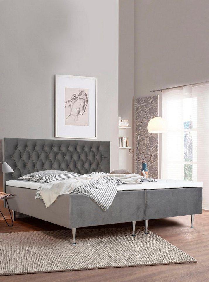 Places of Style Boxspringbett Exclusive inkl Topper 3 Breiten 3 Härtegrad Ausführungen online kaufen