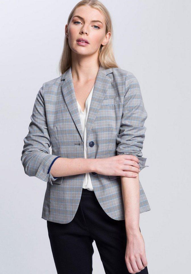 OPUS Jackenblazer »Janinka« im angesagten Clencheck-Muster | Bekleidung > Blazer > Jackenblazer | Blau | Glencheck - Jeans | OPUS