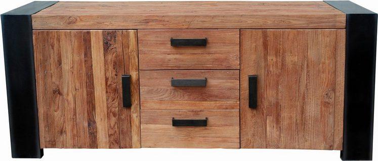 SIT Sideboard »Croco«, aus recyceltem Teak, Breite 192 cm