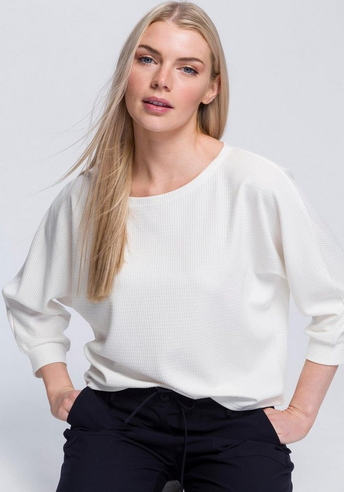 OPUS Oversize-Shirt »Sobby« im bequemen Oversized-Schnitt | Bekleidung > Shirts > Oversize-Shirts | Weiß | OPUS