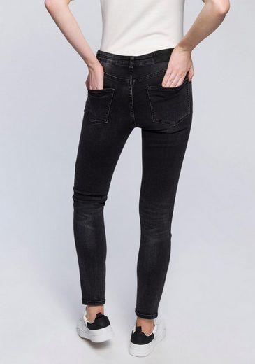 OPUS Slim-fit-Jeans »Ely« mit seitlich aufgedrucktem Gallonstreifen
