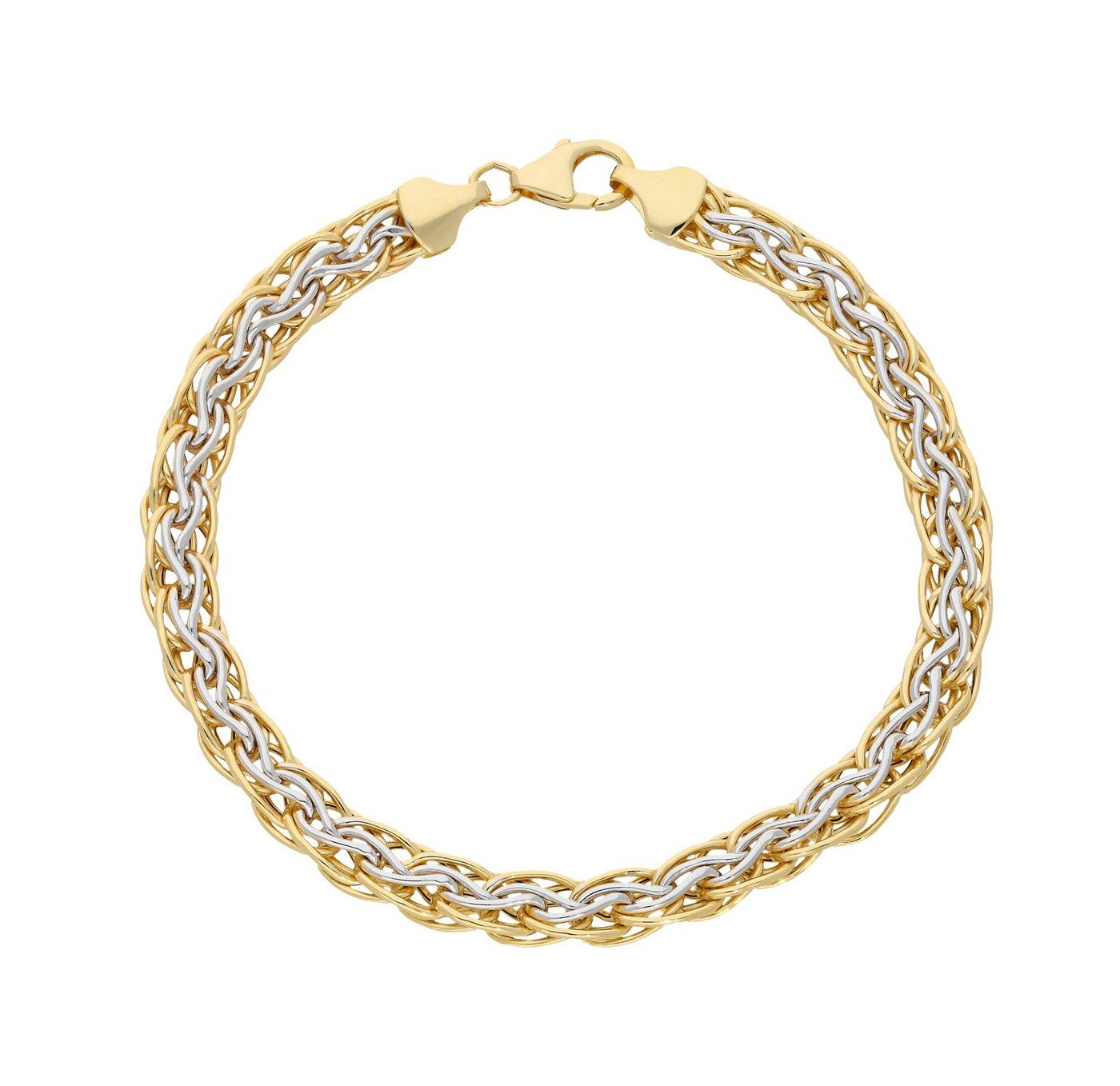 Firetti Goldarmband »Bicolor« rhodiniert | Schmuck > Armbänder > Goldarmbänder | Goldfarben | Firetti