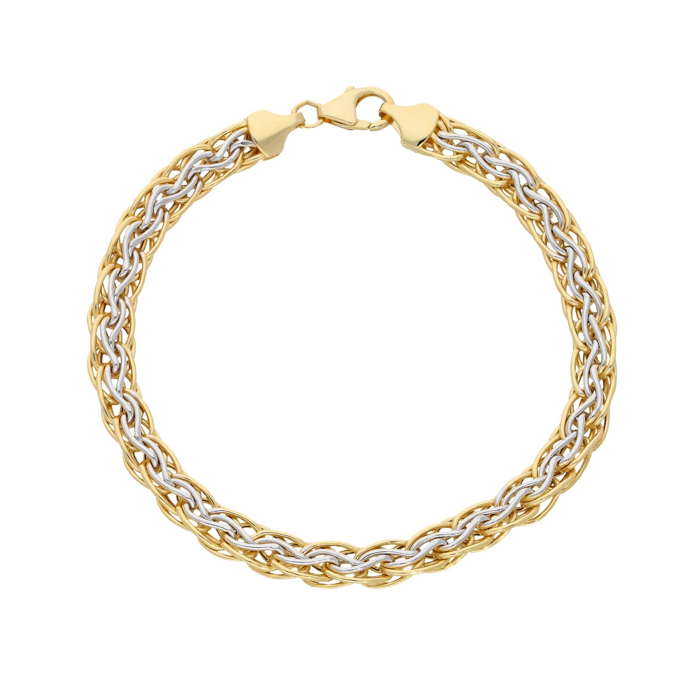Firetti Goldarmband »Bicolor« rhodiniert