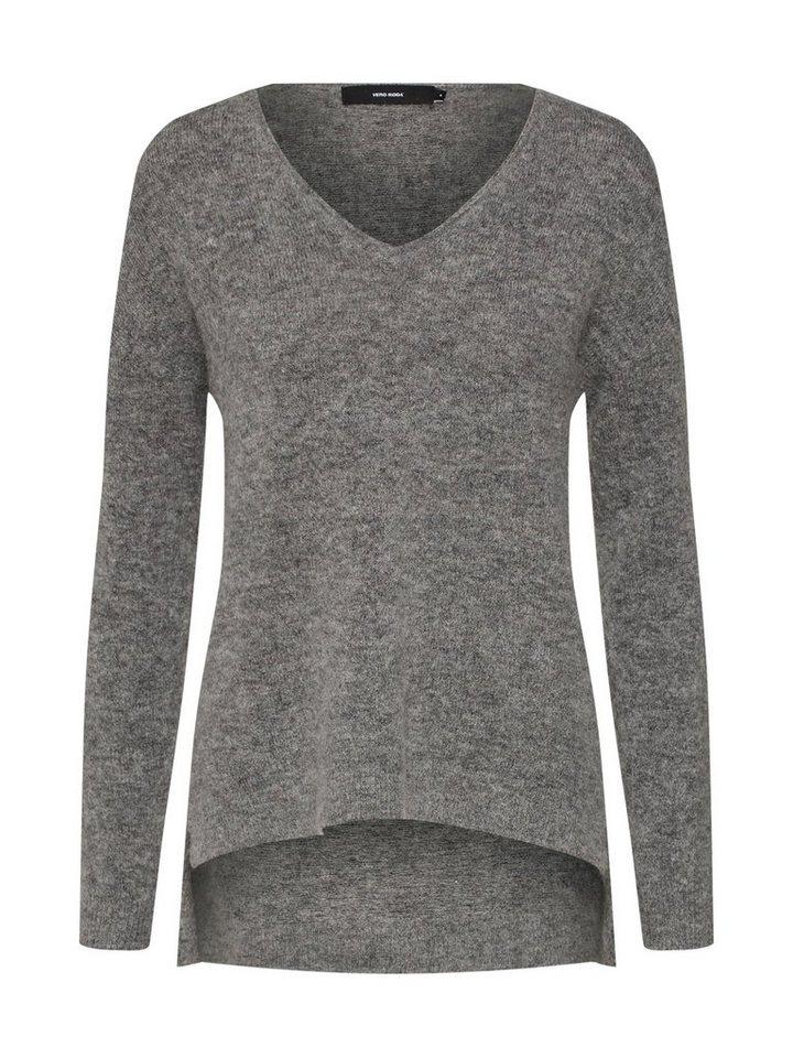 Vero Moda Longpullover »VMCUDDLE LS V-NECK BLOUSE«   Bekleidung > Pullover > Longpullover   Grau   Vero Moda