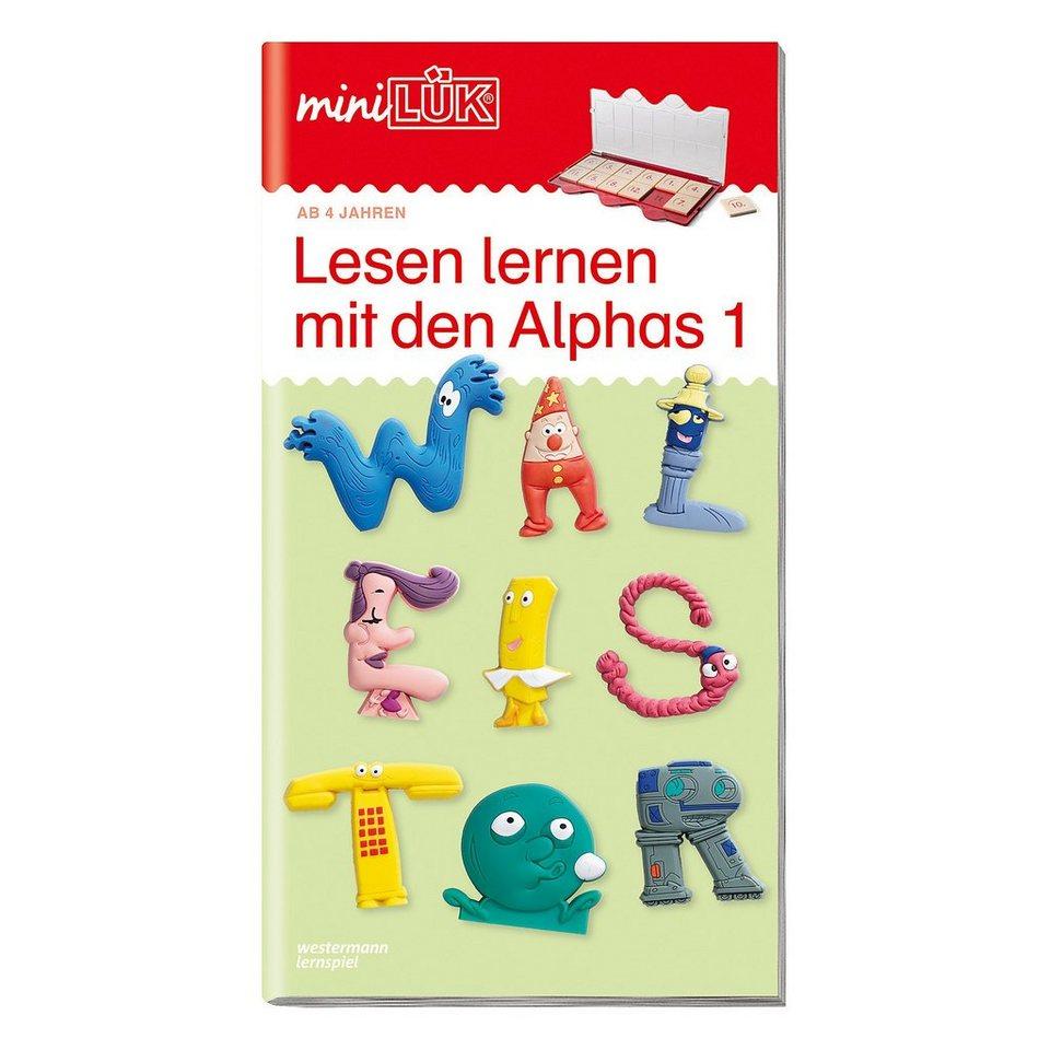 Westermann Verlag mini LÜK: Lesen lernen mit den Alphas, Übungsheft online kaufen