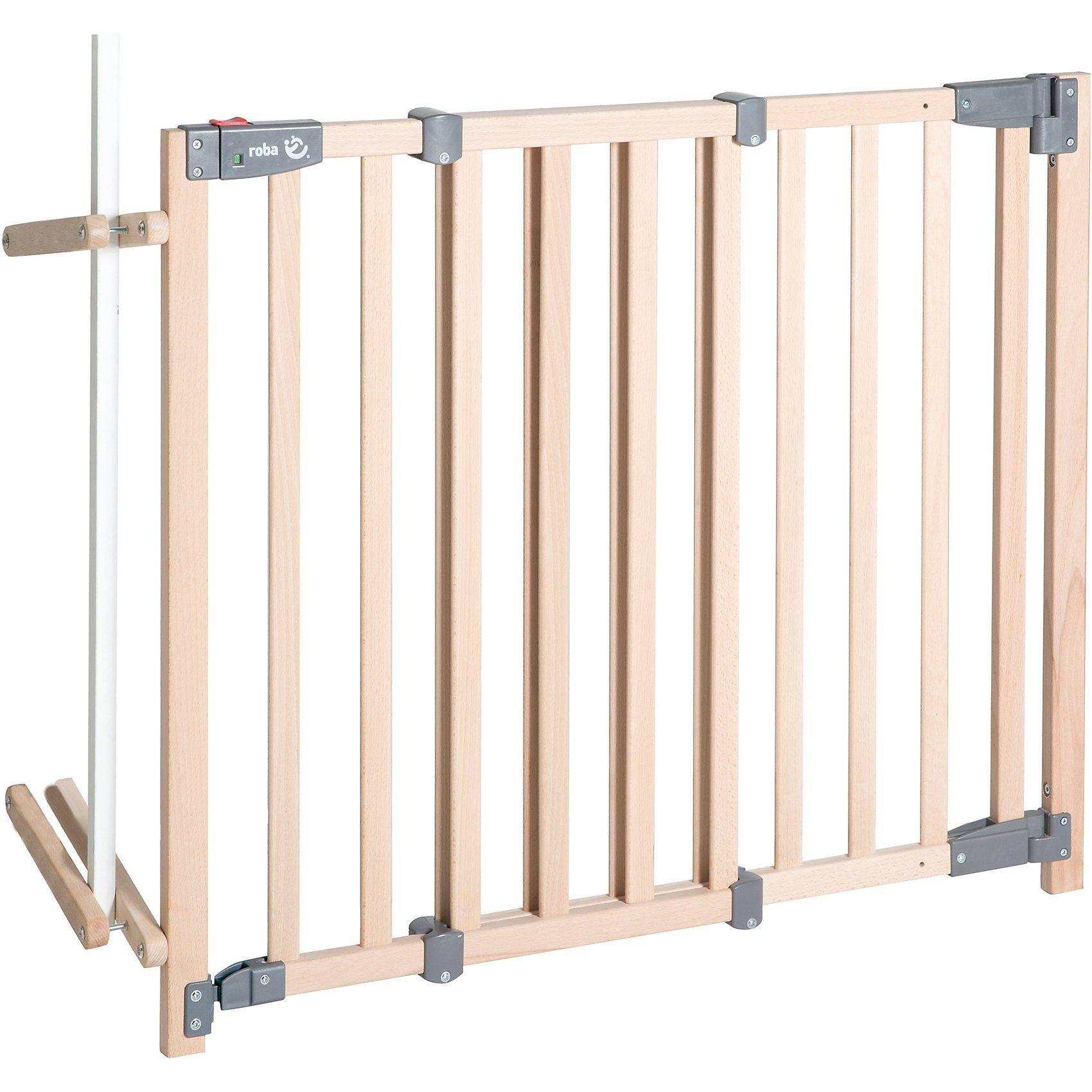 Roba® Treppenschutzgitter Safety Up, Buche massiv, natur, 93,5 - 1