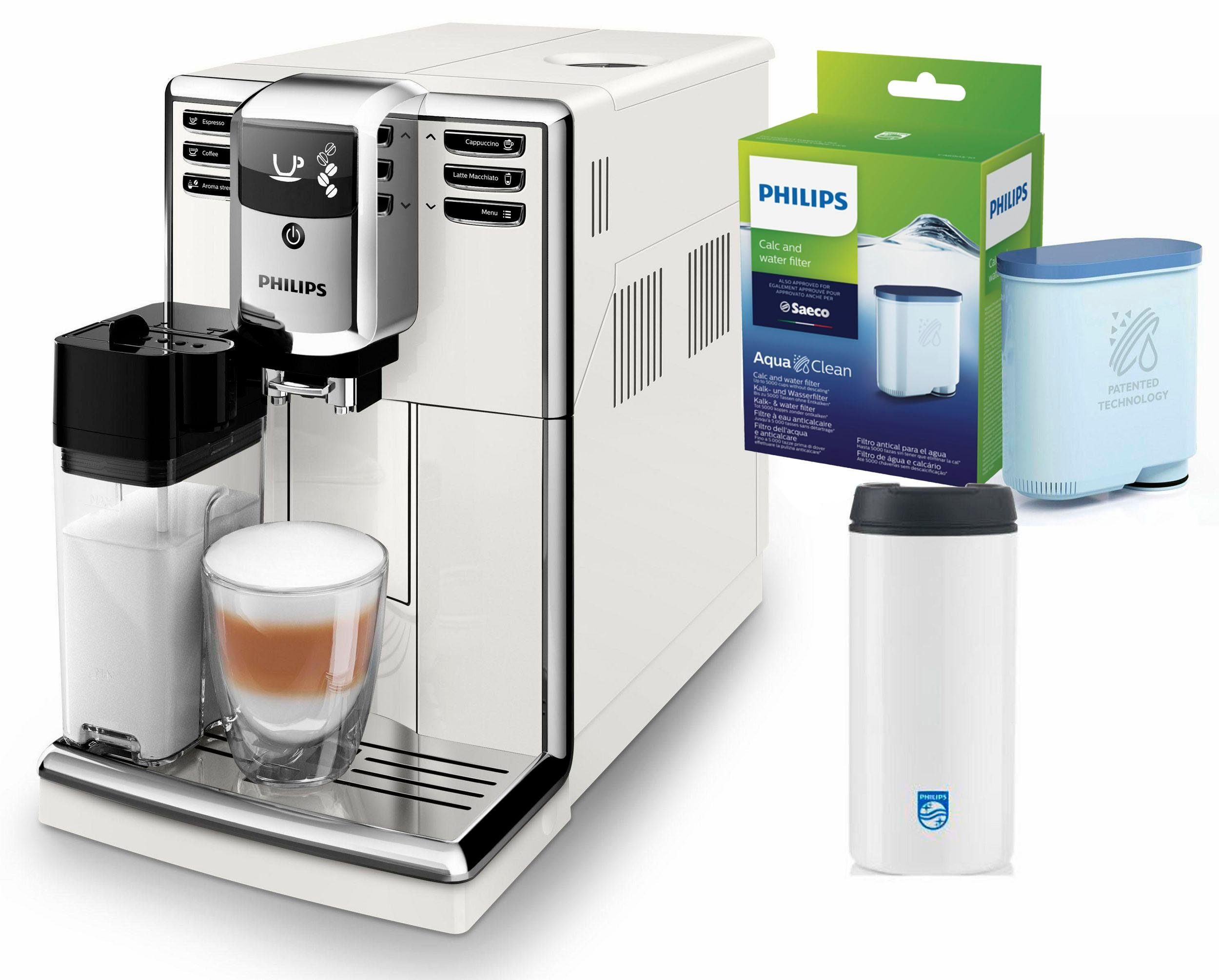 Philips Kaffeevollautomat 5000 Serie EP5961/10, weiß