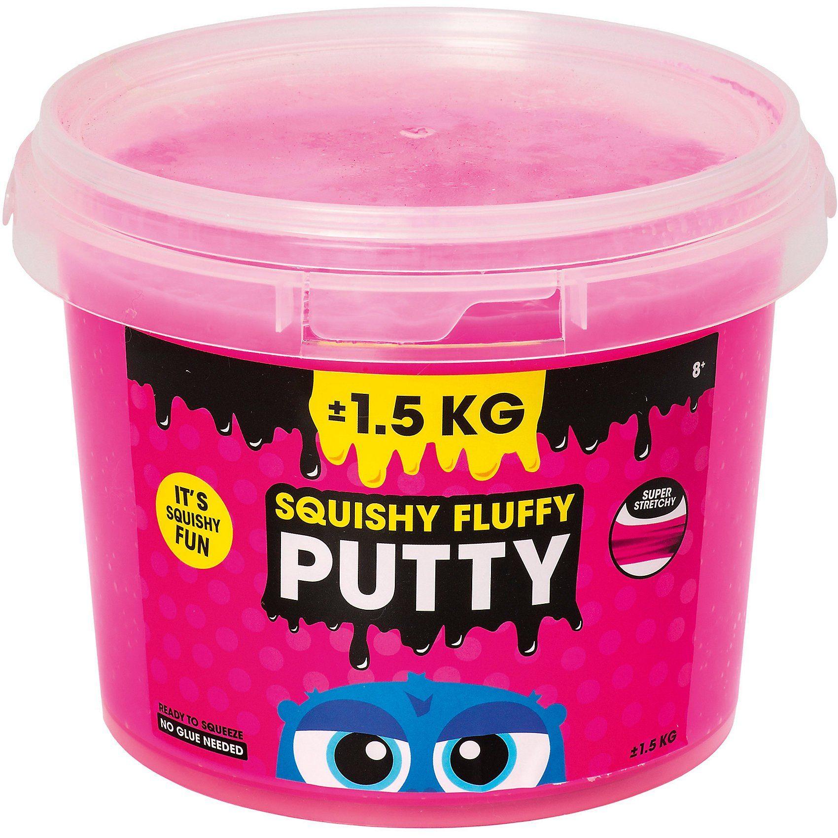 Squishy Fluffy Putty pink im Eimer, 1,5 kg