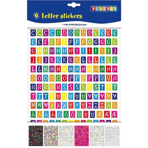 Playbox Sticker Buchstaben, 1.100 Stück