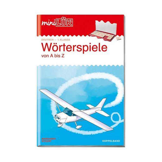 Westermann Verlag mini LÜK: Wörterspiele von A bis Z - Deutsch 1. Klasse, Übun