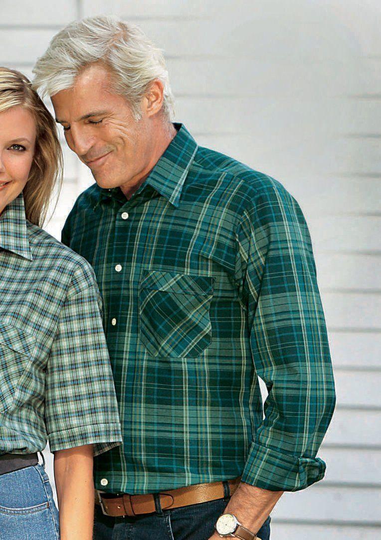 Classic Karo-Hemd aus reiner Baumwolle