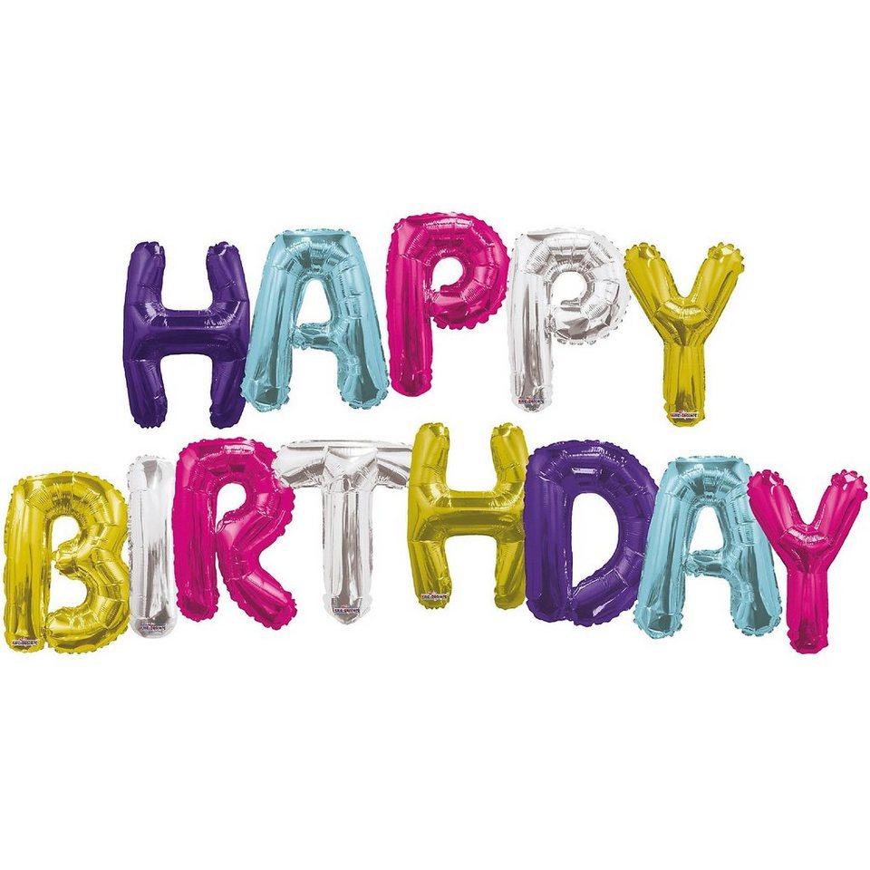 Karaloon Folienballon Schriftzug Happy Birthday