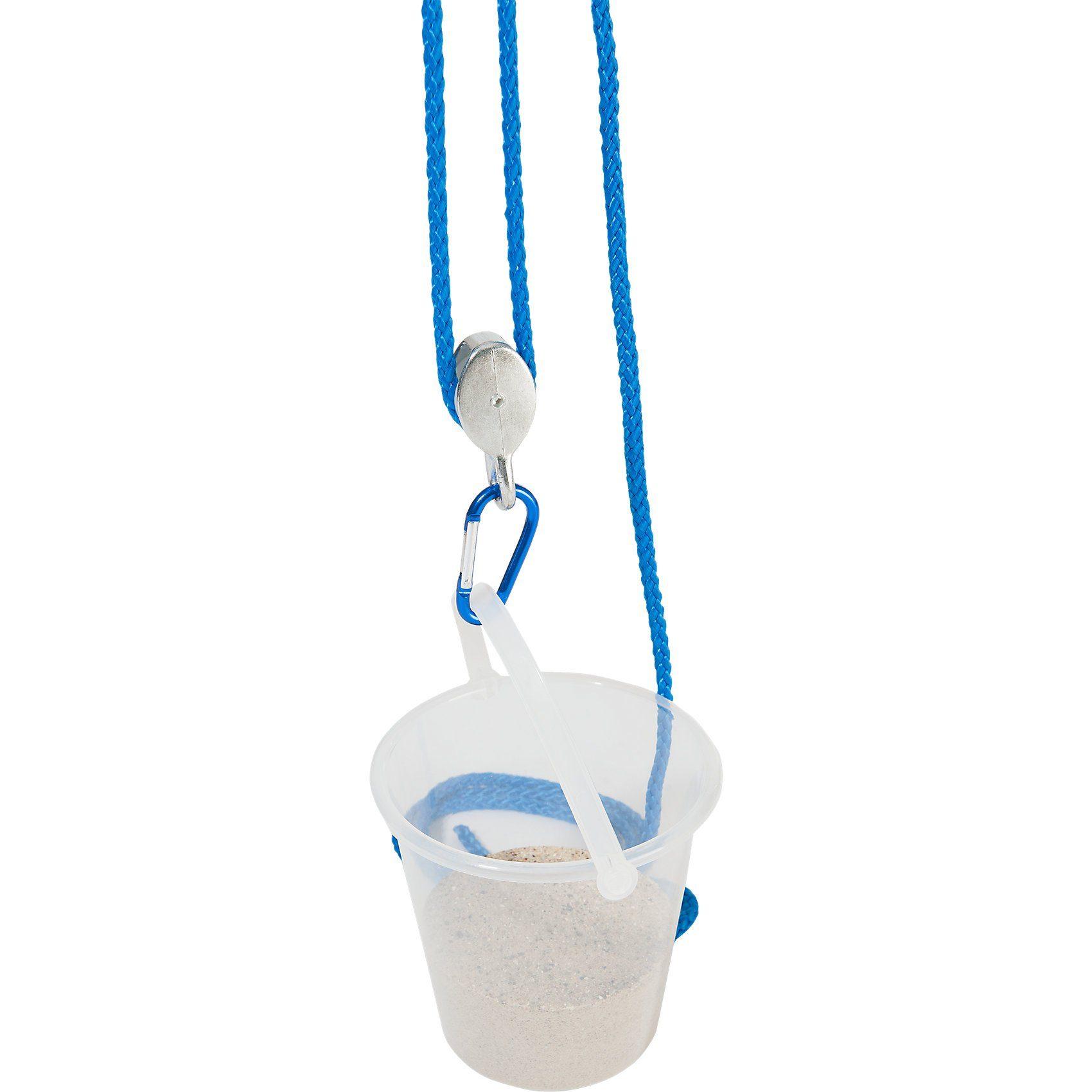 EDUPLAY Flaschenzug mit Eimer, blau