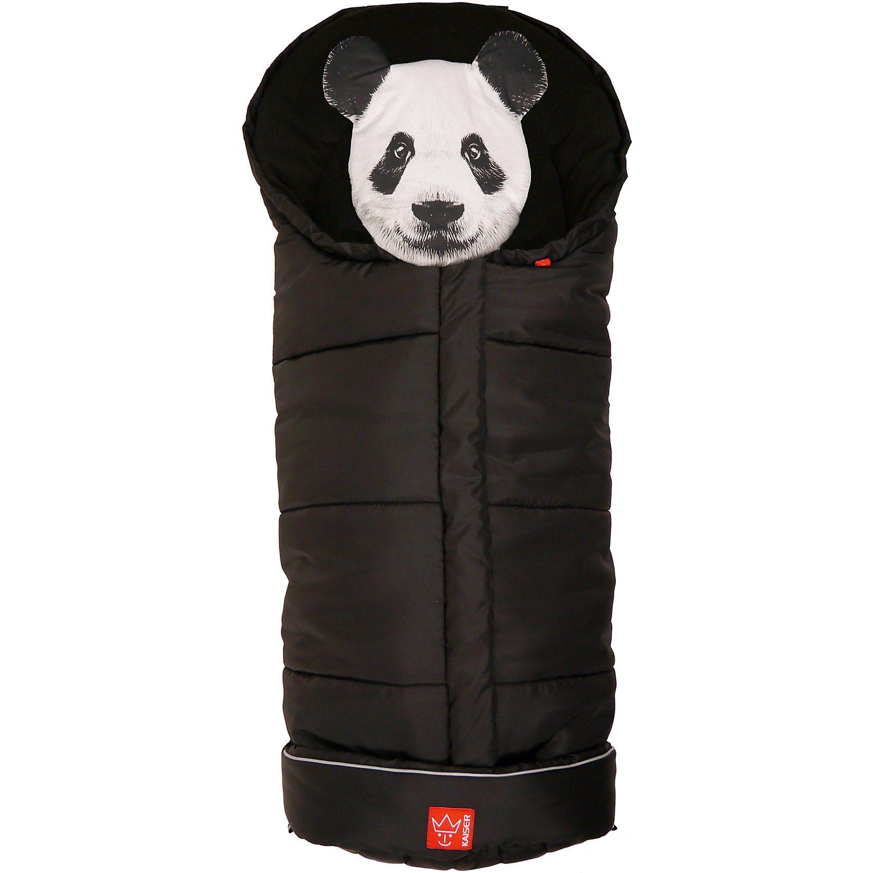 Kaiser Thermo Fußsack Panda, schwarz