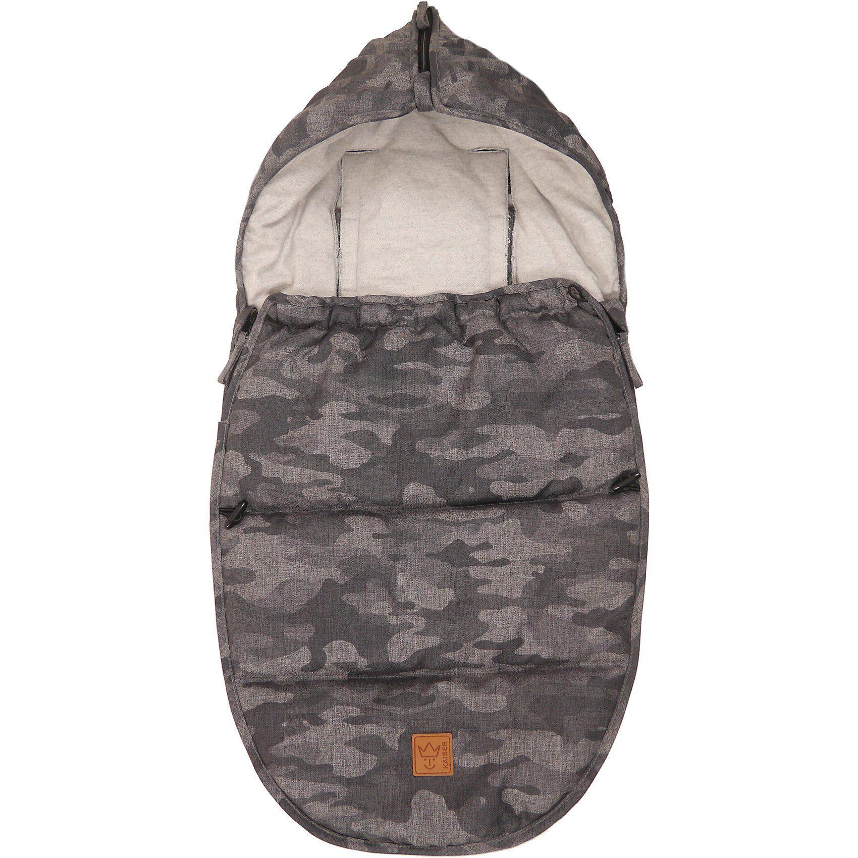 Kaiser Fußsack Hoody Camo für Babyschale, Camouflage