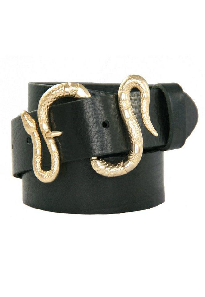legend -  Ledergürtel mit Dornschließe im Schlangen-Design