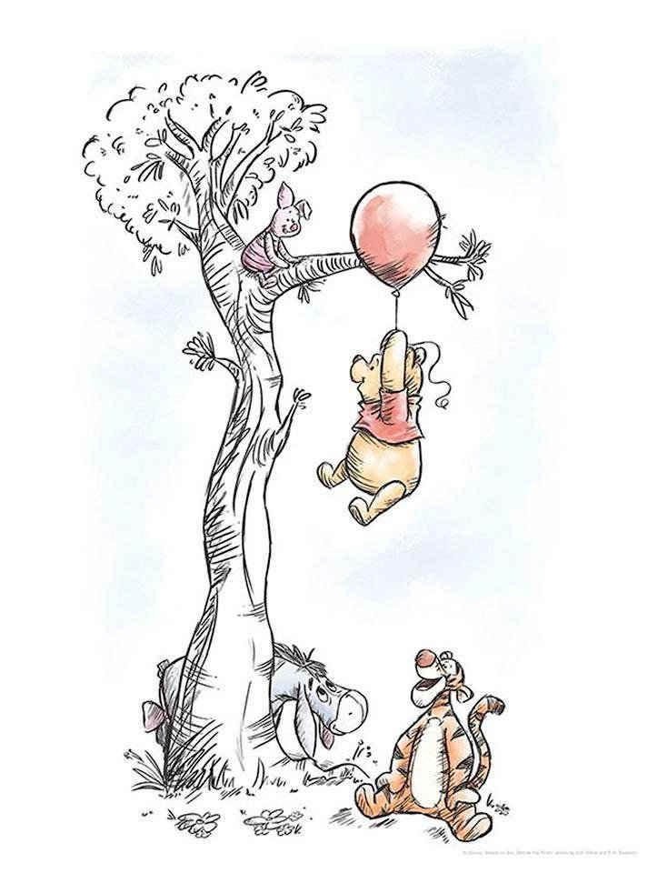 Komar Poster »Winnie Pooh Hang on«, Disney, Höhe: 40cm