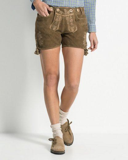Almsach Shorts  Lederhose mit Hosenträgern