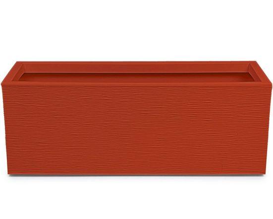 ONDIS24 Blumenkasten »Graphit«, 79.5 x 29.5 x 29.5 (H) cm, Pflanzvolumen ca. 57 Liter, Steinnachbildung