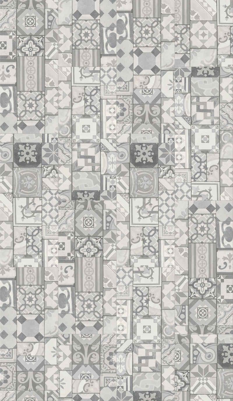 PARADOR Vinylboden »Trendtime 5.50 - Ornamentic Grey«, 90,8 x 39,6 cm, Stärke 5 mm, 2,1 m²
