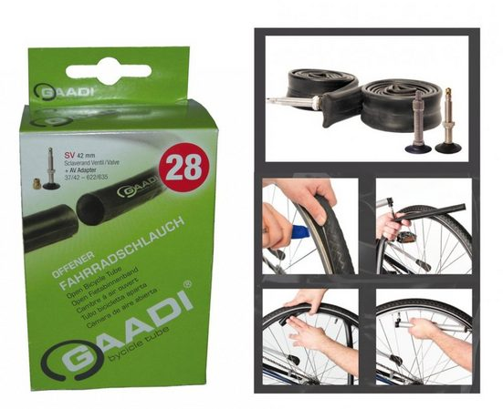 Gaadi Fahrradschlauch »Schlauch GAADI 26' 40/47-559 franz. Ventil 47mm«, 26 Zoll, {Besondere Merkmale