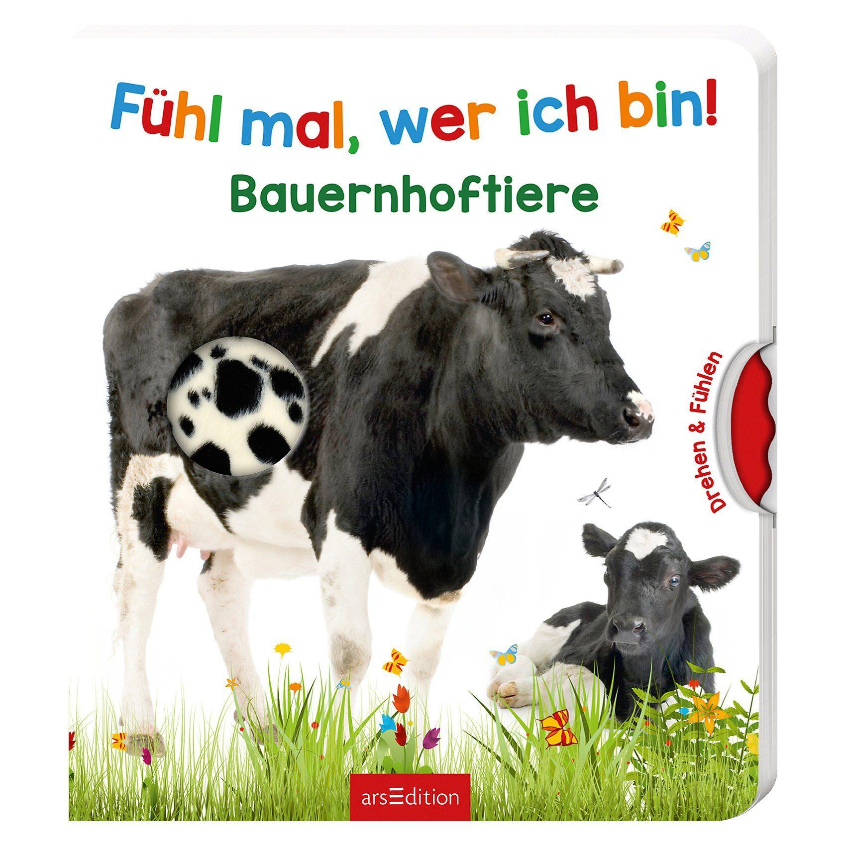 arsEdition Verlag Fühl mal, wer ich bin! Bauernhoftiere, mit Drehscheibe