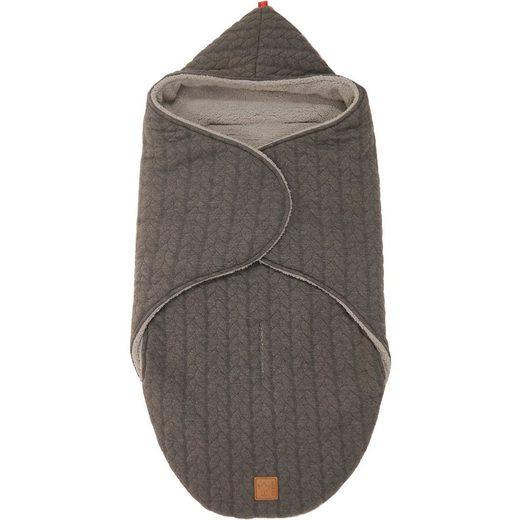 Kaiser Einschlagdecke Wrappy, Strick Design, anthrazit