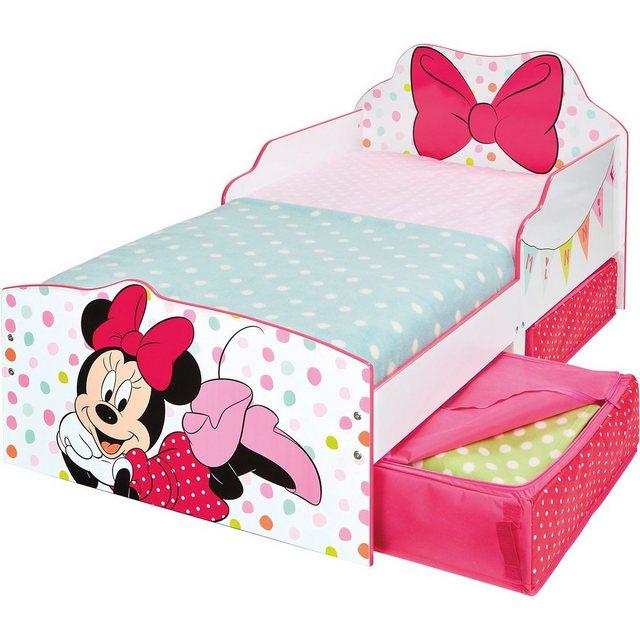 Kinderbetten - WORLDS APART Kinderbett Minnie, inkl. Schubladen, 70 x 140 cm » rosa  - Onlineshop OTTO