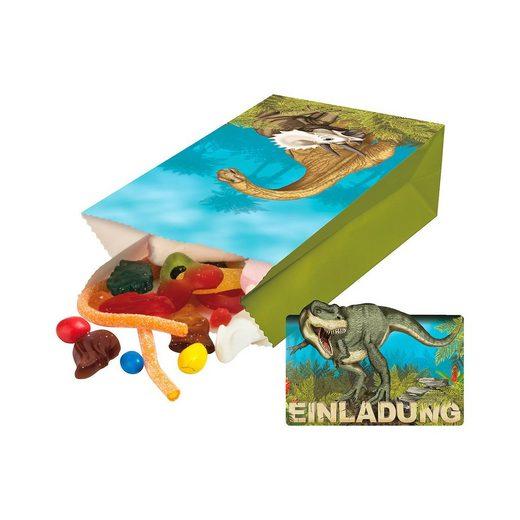 TapirElla Partytüten und Einladungskarten Dinosaurier T-Rex, 32-tlg.