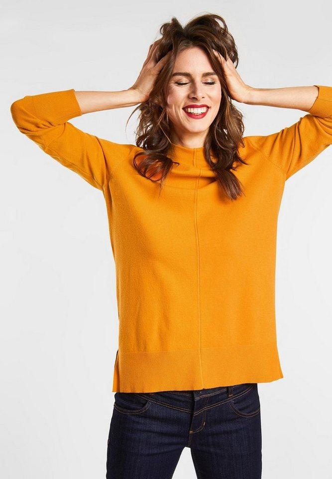 STREET ONE Stehkragenpullover | Bekleidung > Pullover > Stehkragenpullover | Orange | STREET ONE