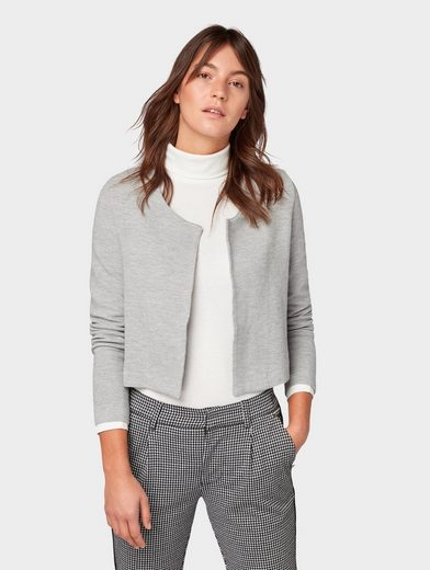 TOM TAILOR Denim Sweater »Blazer mit Strukturmuster«