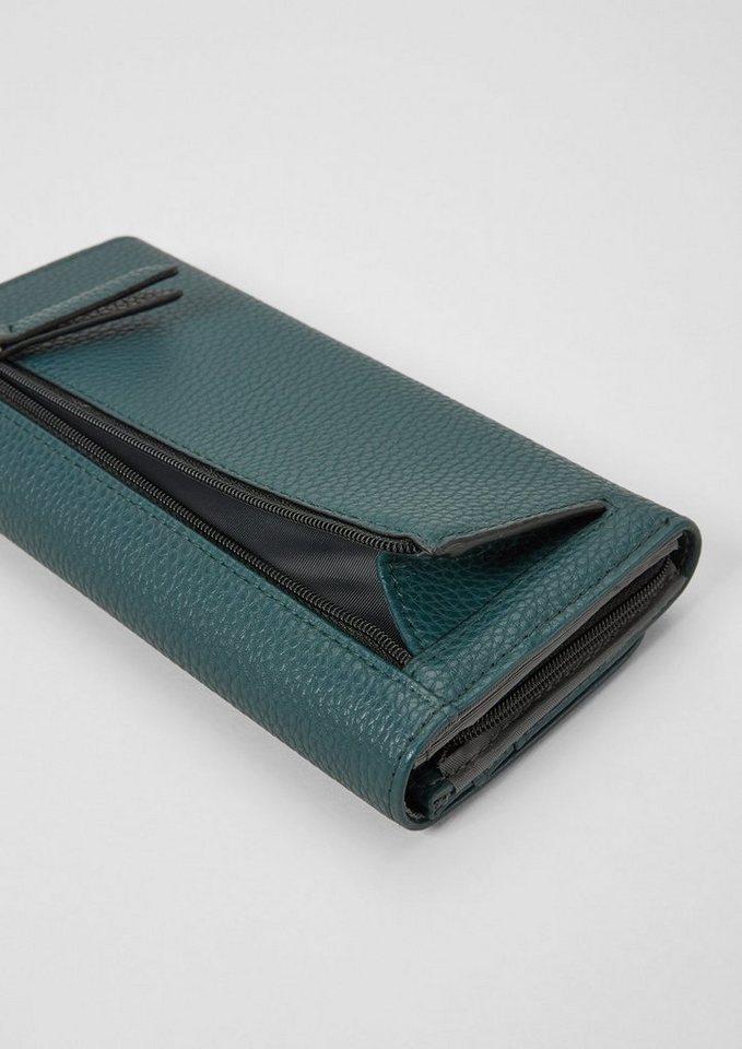 s.Oliver RED LABEL Flap Wallet mit Struktur